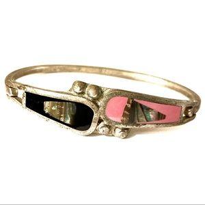 Jewelry - Sterling Silver Bracelet stone inlays 925